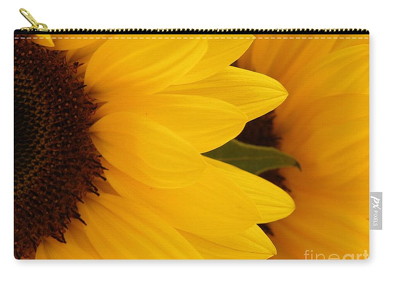 Sunflower Carry-all Pouch featuring the photograph French Sunflowers by Lainie Wrightson