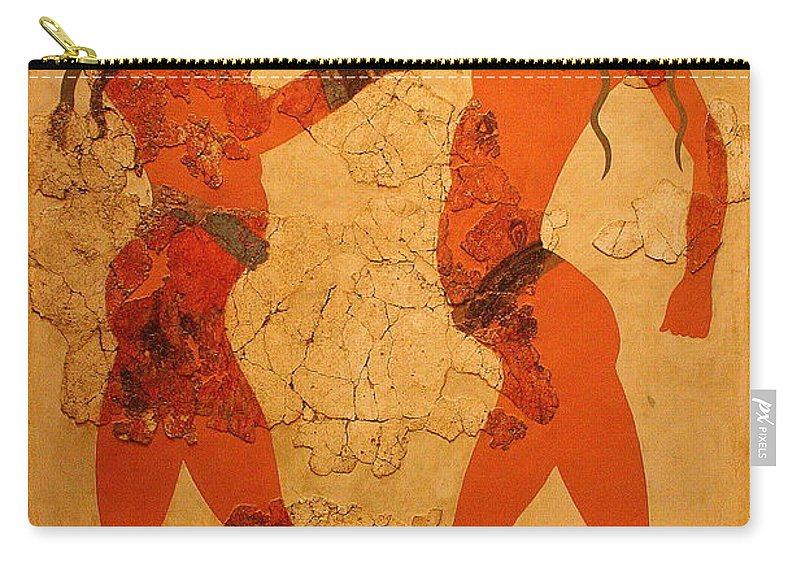 Fresco Carry-all Pouch featuring the photograph Fresco Of Boxing Children by Laurel Talabere