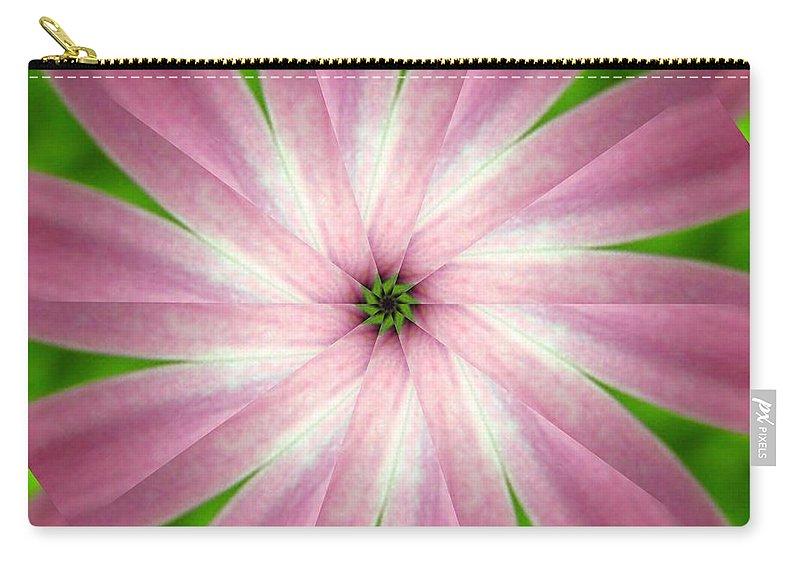 Photo Carry-all Pouch featuring the digital art Fresh Pink by Rhonda Barrett