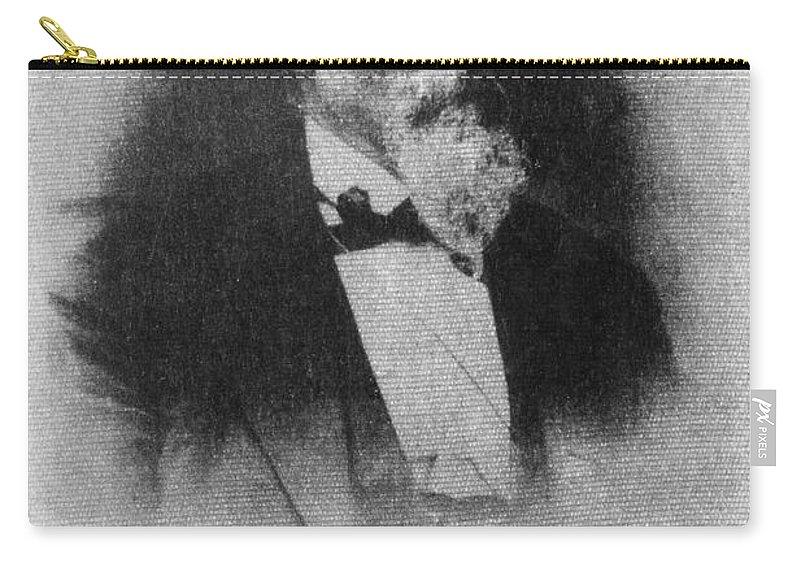 1886 Carry-all Pouch featuring the photograph Friedrich Hecker by Granger