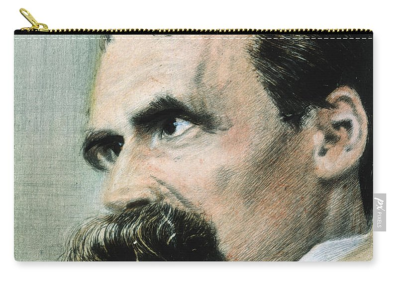 19th Century Carry-all Pouch featuring the photograph Friedrich W. Nietzsche by Granger