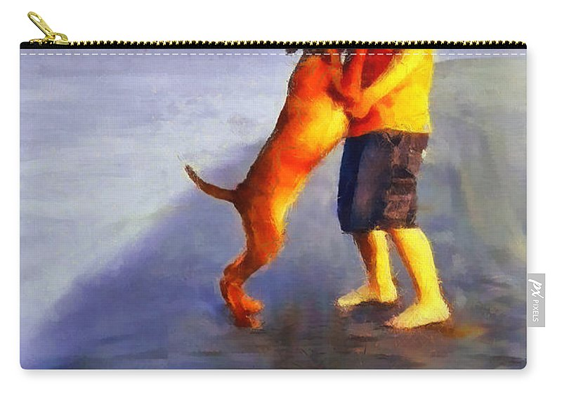 Dog Carry-all Pouch featuring the painting Friendship by Dragica Micki Fortuna