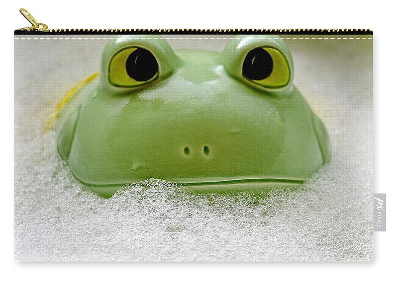 Usa Carry-all Pouch featuring the photograph Frog In The Bath by LeeAnn McLaneGoetz McLaneGoetzStudioLLCcom