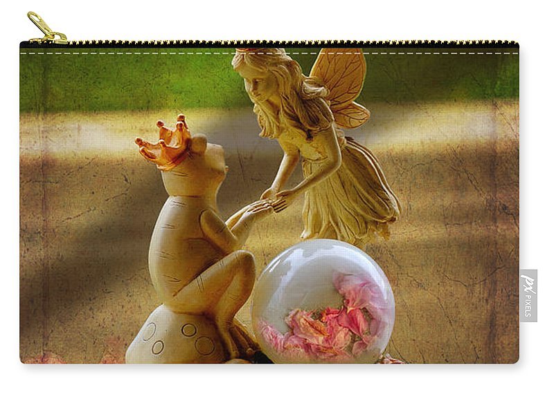 Hdr Carry-all Pouch featuring the photograph Frog Prince And Fairy Princess by John Herzog