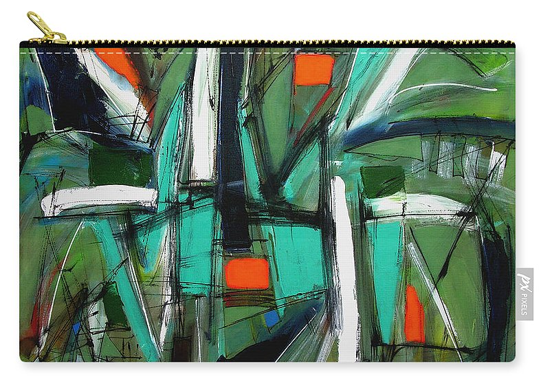 Abstract Carry-all Pouch featuring the painting Frolic by Lynne Taetzsch