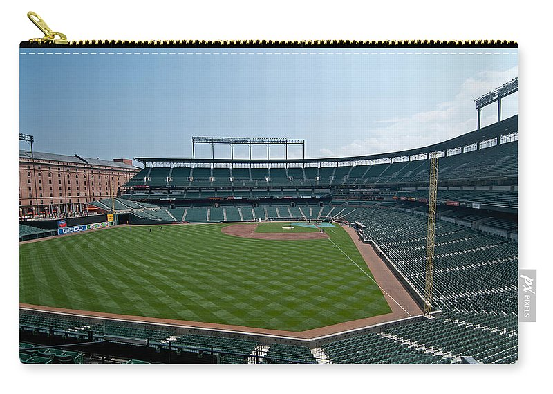 Oriole Park Carry-all Pouch featuring the photograph From Left Field by Paul Mangold