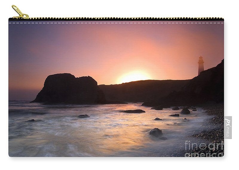 Yaquina Carry-all Pouch featuring the photograph From Light To Light by Mike Dawson