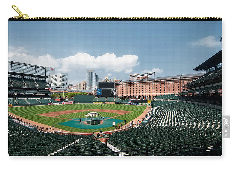 baltimore Orioles Carry-all Pouch featuring the From The Press Box by Paul Mangold