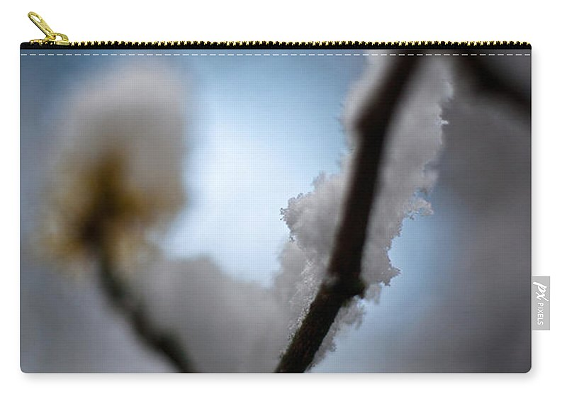 Frost Carry-all Pouch featuring the photograph Frost Light by Mike Reid