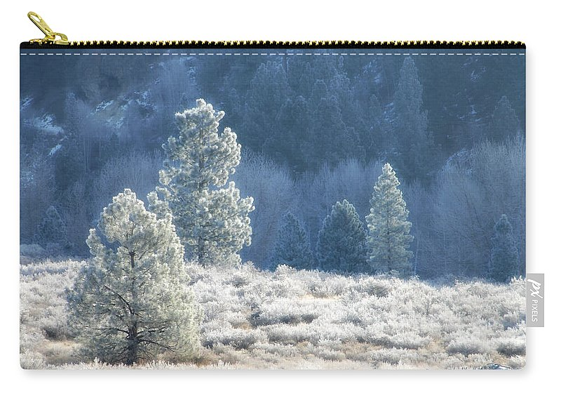 Frost Carry-all Pouch featuring the photograph Frosted Morning by Donna Blackhall