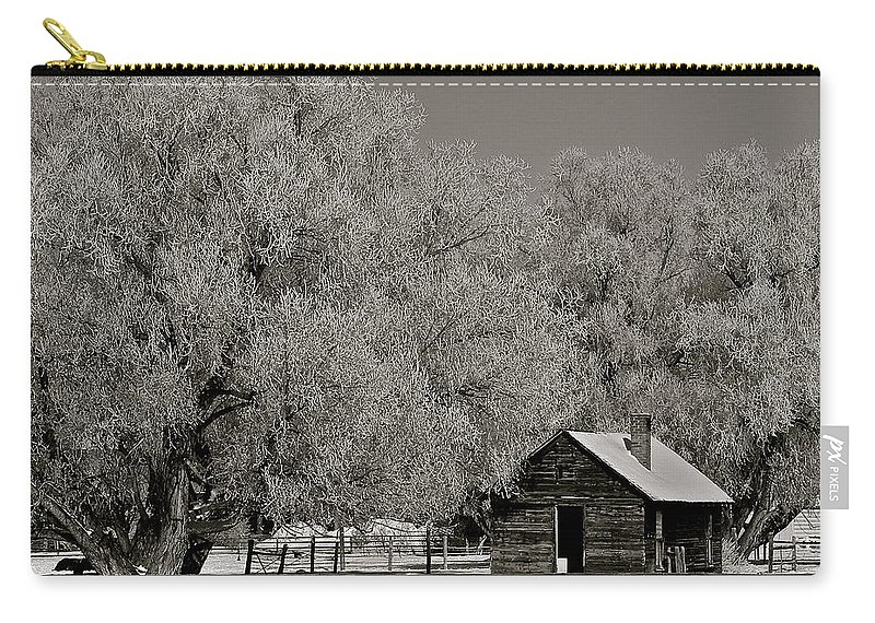Frosted Carry-all Pouch featuring the photograph Frosty Day by Eric Tressler