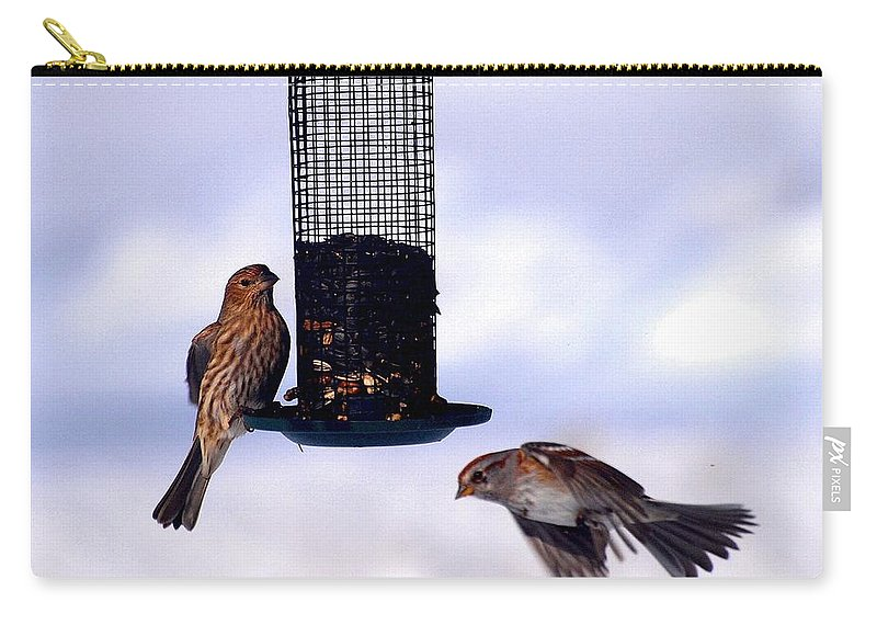 Birds Carry-all Pouch featuring the photograph Frozen In Flight 1 by Joshua House