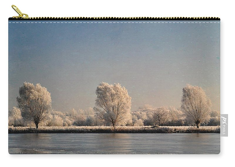 Lake Carry-all Pouch featuring the photograph Frozen Lake by Lyn Randle
