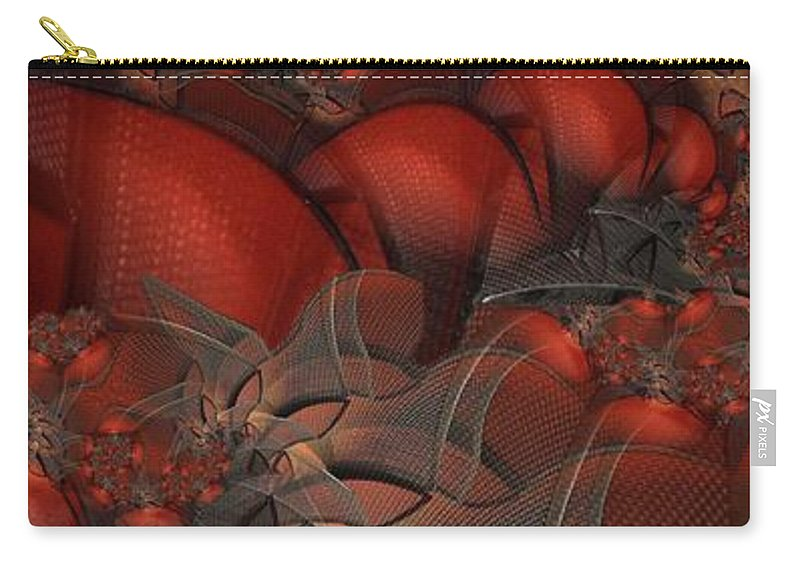 Abstract Carry-all Pouch featuring the digital art Fruit Basket by Ron Bissett