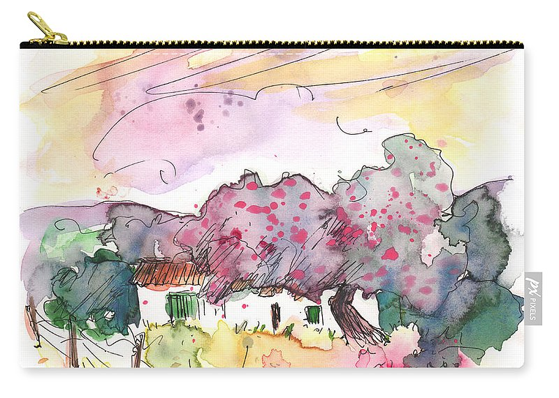 Travel Carry-all Pouch featuring the painting Fuente Obejuna 01 by Miki De Goodaboom