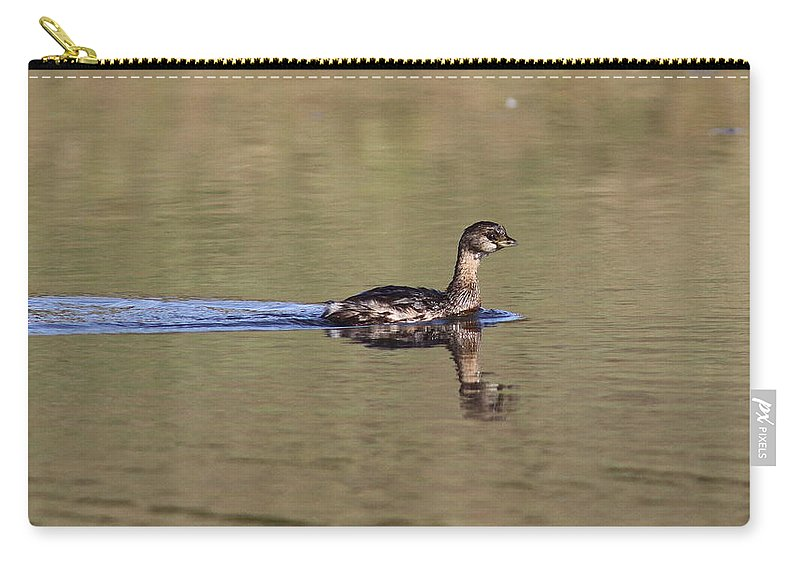 Pied-billed Grebe Carry-all Pouch featuring the photograph Full Steam Ahead by Travis Truelove