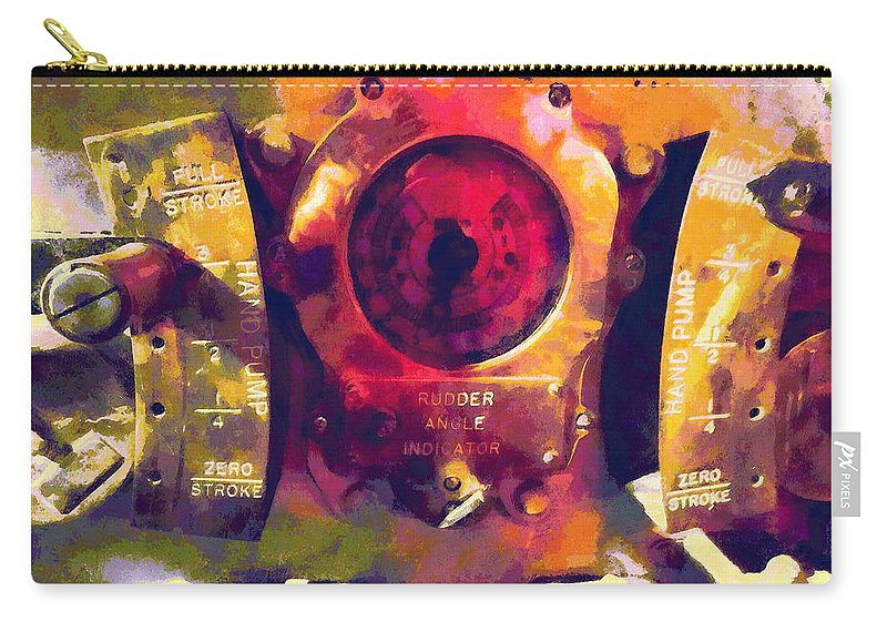 Rudder Carry-all Pouch featuring the photograph Full Stroke by Susan Savad