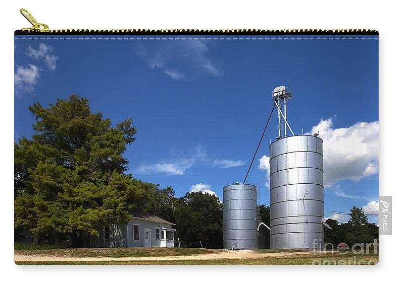 Art Carry-all Pouch featuring the photograph Funks Grove Scene 1 by Alan Look