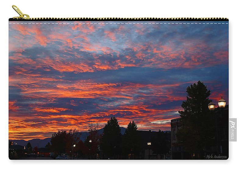 Grants Pass Carry-all Pouch featuring the photograph G Street Sunrise In Grants Pass by Mick Anderson