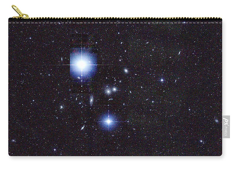 2mass Carry-all Pouch featuring the photograph Galaxy Cluster Abell 1060, Infrared by 2MASS project NASA