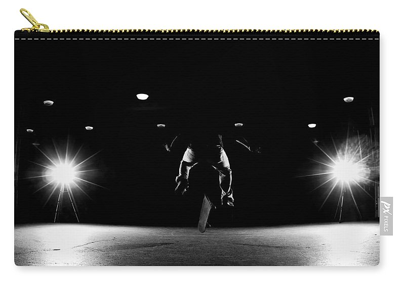 Skate Carry-all Pouch featuring the photograph Game Of Skate by Cale Best