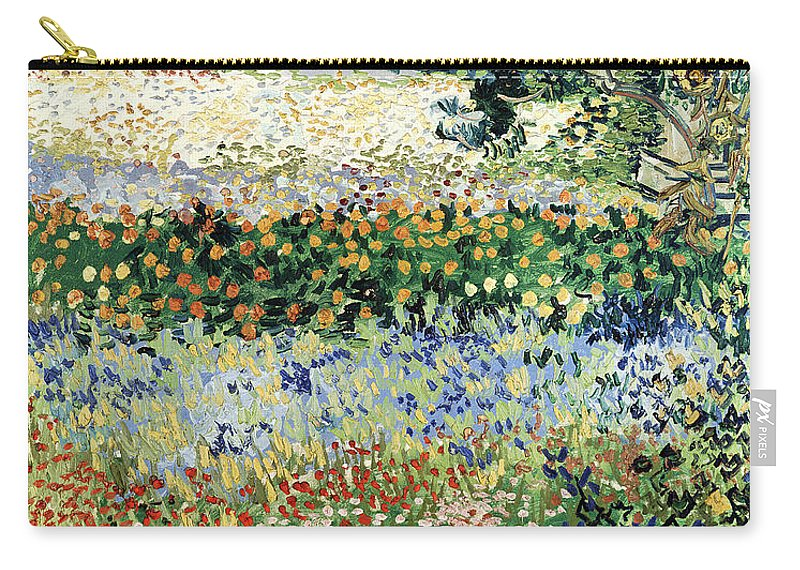 Garden In Bloom Carry-all Pouch featuring the painting Garden In Bloom by Vincent Van Gogh
