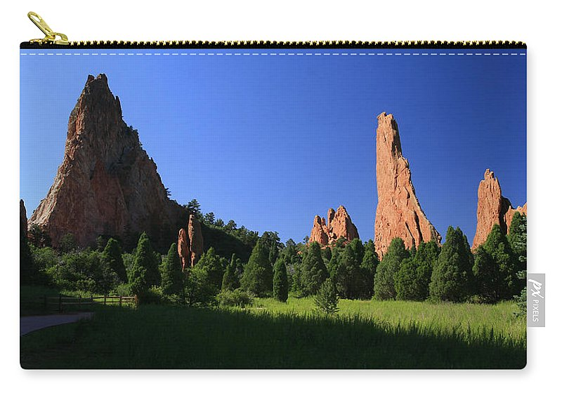 Garden Of The Gods Carry-all Pouch featuring the photograph Garden Of The Gods by Garry McMichael