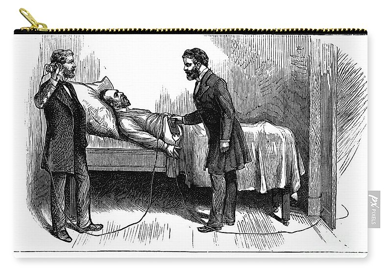 1881 Carry-all Pouch featuring the photograph Garfield Assassination by Granger
