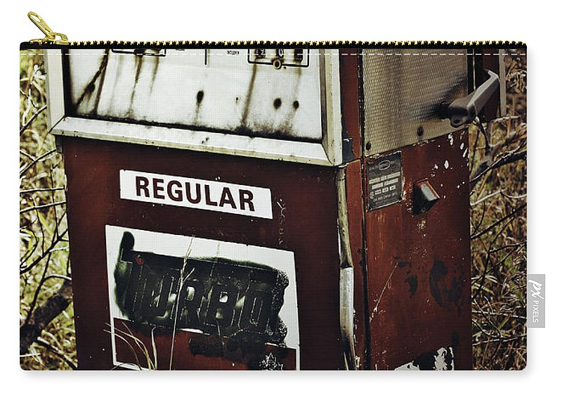 Street Photographer Framed Prints Carry-all Pouch featuring the photograph Gaspump by The Artist Project