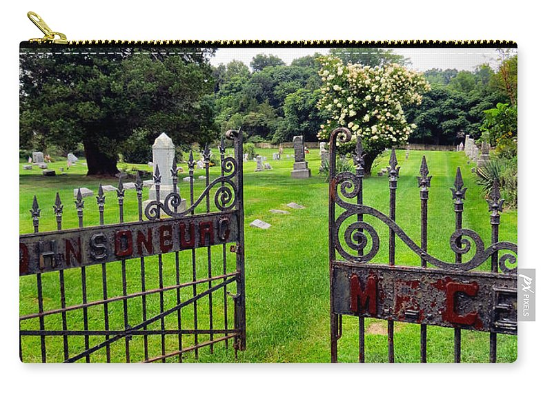 Death Carry-all Pouch featuring the photograph Gates Of Heaven by Art Dingo