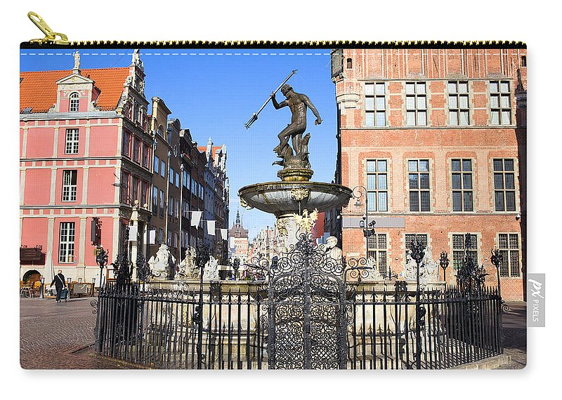 Architecture Carry-all Pouch featuring the photograph Gdansk Old City In Poland by Artur Bogacki