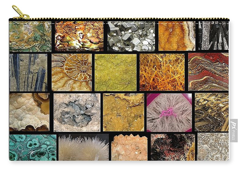 Gemstones Carry-all Pouch featuring the photograph Gemstones And More Collage by Rose Santuci-Sofranko