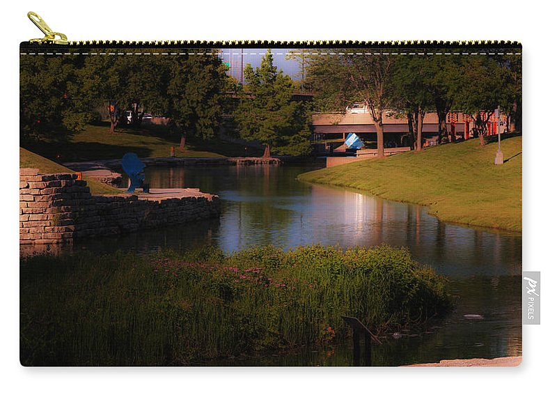 Gene Leahy Mall Carry-all Pouch featuring the photograph Gene Leahy Mall In Full Glory by Edward Peterson