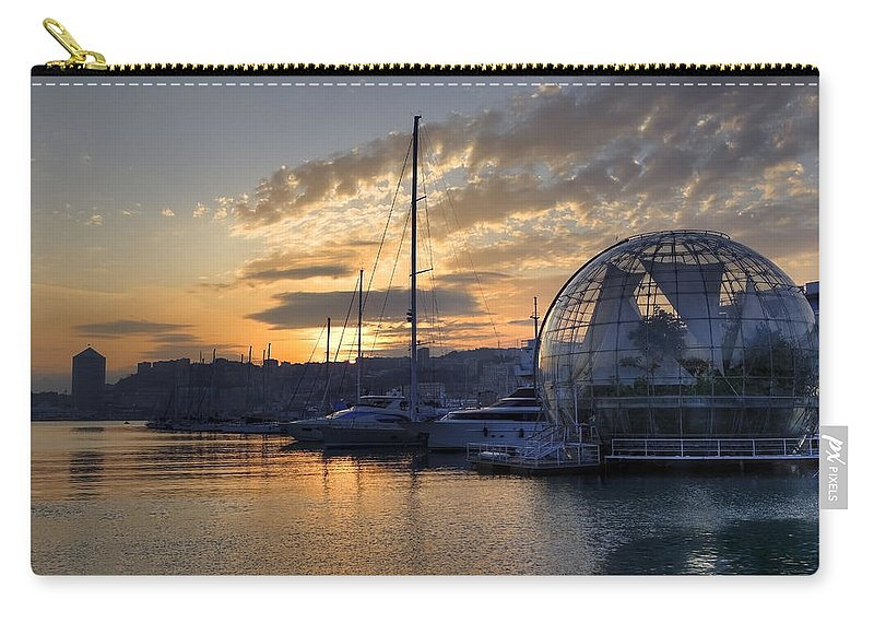 Biosphere Carry-all Pouch featuring the photograph Genoa by Joana Kruse