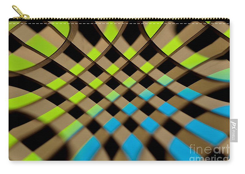 Photography Carry-all Pouch featuring the photograph Geometrical Colors And Shapes 1 by Kaye Menner
