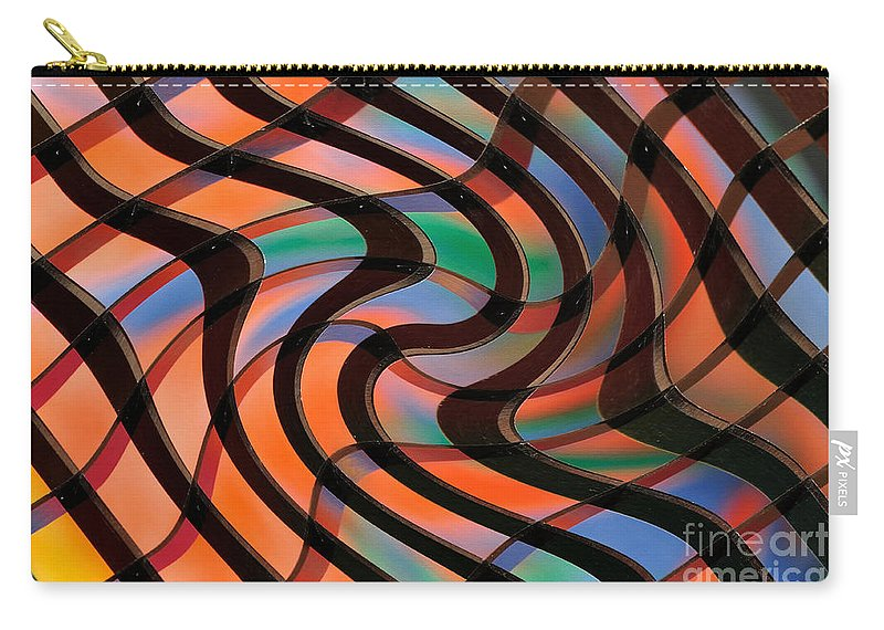Photography Carry-all Pouch featuring the photograph Geometrical Colors And Shapes 2 by Kaye Menner