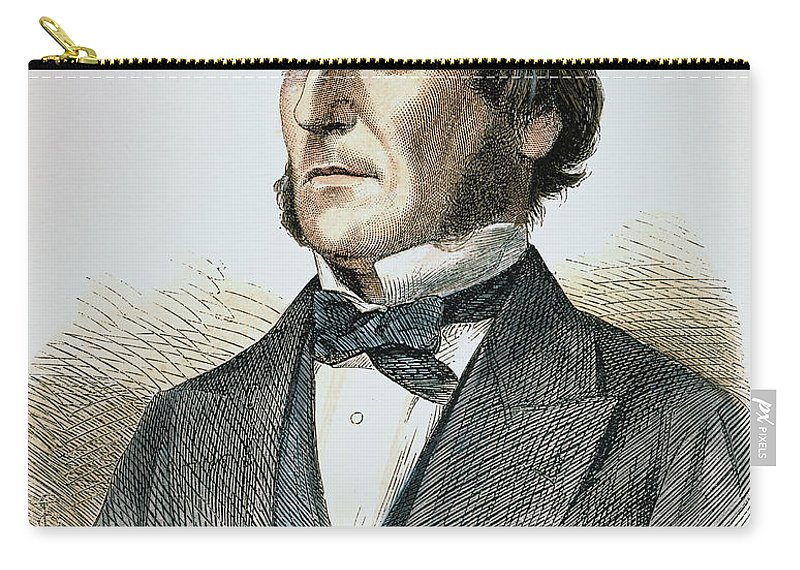 1865 Carry-all Pouch featuring the photograph George Boole (1815-1864) by Granger
