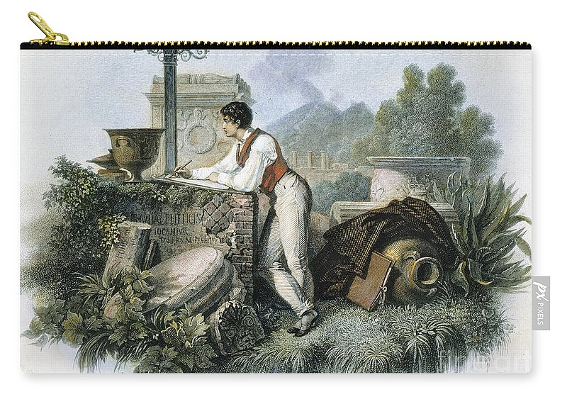 19th Century Carry-all Pouch featuring the photograph George Gordon Byron by Granger