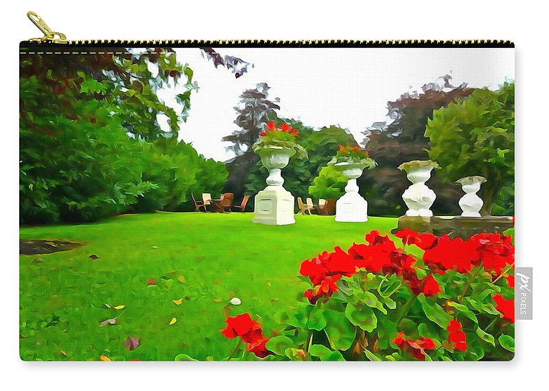 Garden Carry-all Pouch featuring the photograph Geraniums by Charlie and Norma Brock
