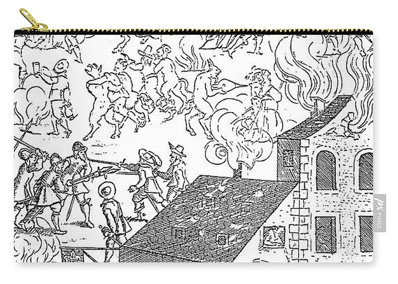 1650 Carry-all Pouch featuring the photograph German Soldiers, 1650 by Granger