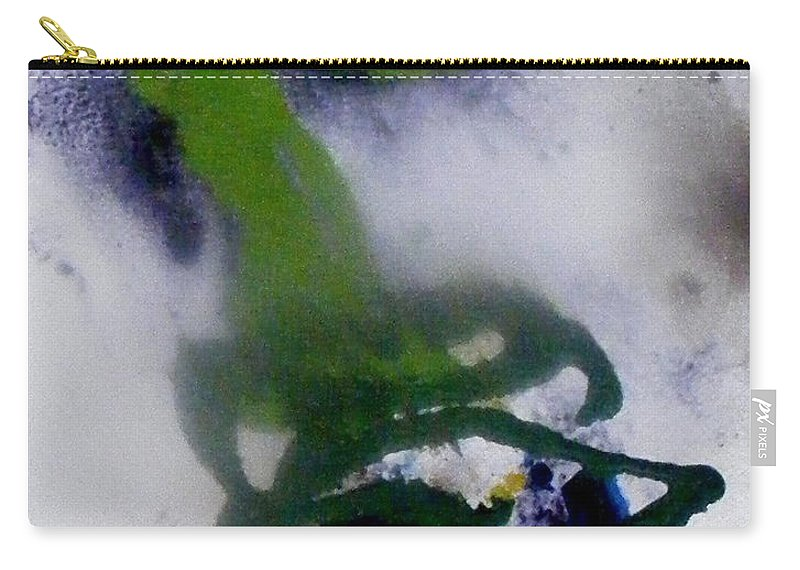 Flowers Carry-all Pouch featuring the painting Ghost Flower by Pearlie Taylor