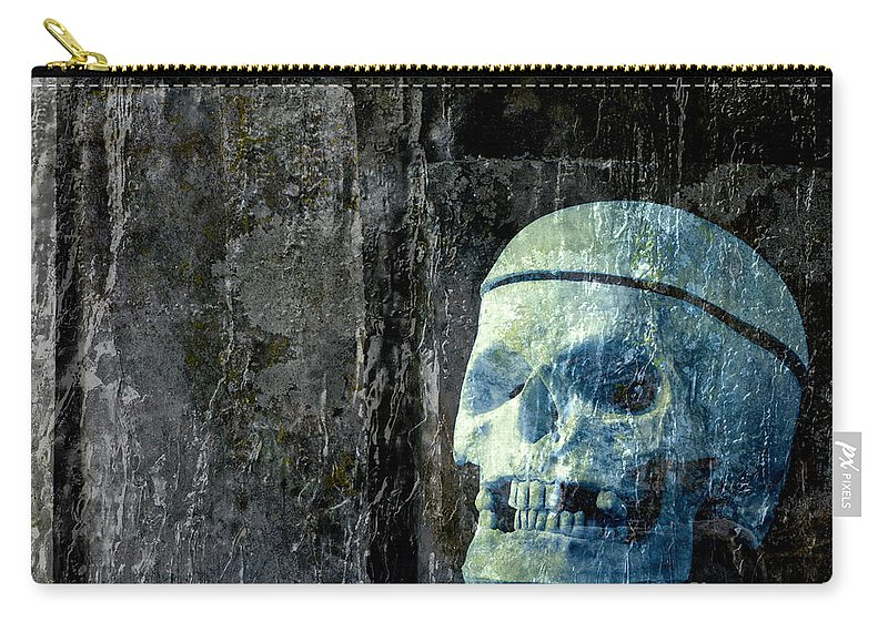 Halloween Carry-all Pouch featuring the photograph Ghost Skull by Edward Fielding