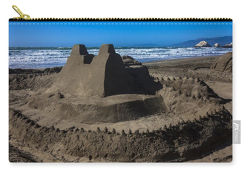 Giant Sand Castle Carry-all Pouch featuring the photograph Giant Sand Castle by Garry Gay