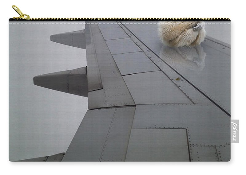 Wing Carry-all Pouch featuring the photograph Gibbon On Wing by Tim Nyberg