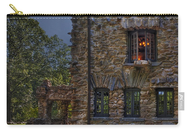 Gillete Castle Carry-all Pouch featuring the photograph Gillette Castle Exterior Hdr by Susan Candelario