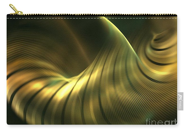 Apophysis Carry-all Pouch featuring the digital art Ginkgo by Kim Sy Ok