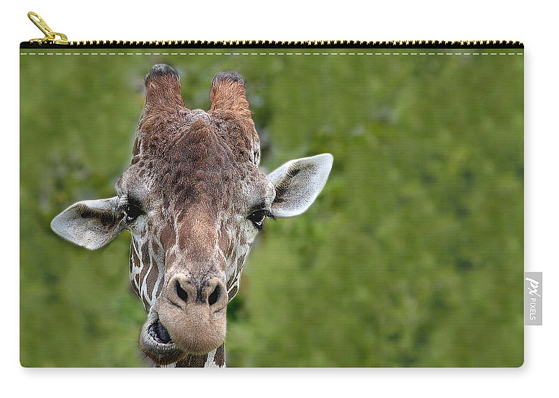 Africa Carry-all Pouch featuring the photograph Giraffe by Rudy Umans