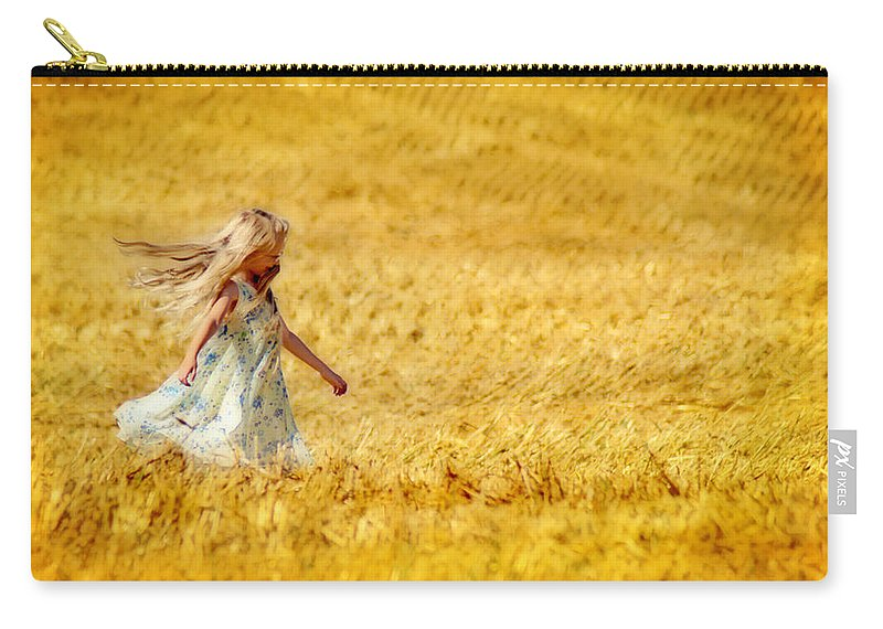 Girl Carry-all Pouch featuring the photograph Girl With The Golden Locks by Bill Pevlor