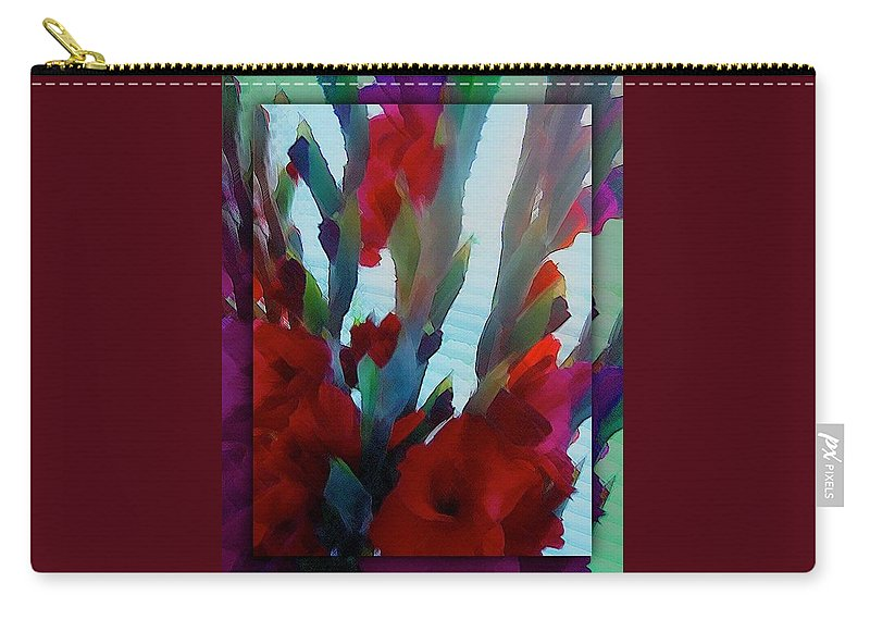 Abstract Carry-all Pouch featuring the digital art Glad by Richard Laeton