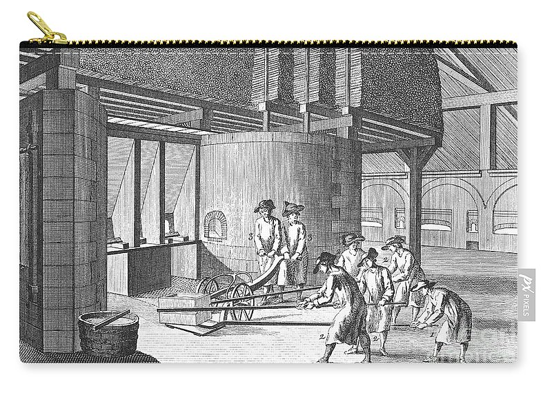 1751 Carry-all Pouch featuring the photograph Glass Manufacture, 1751 by Granger